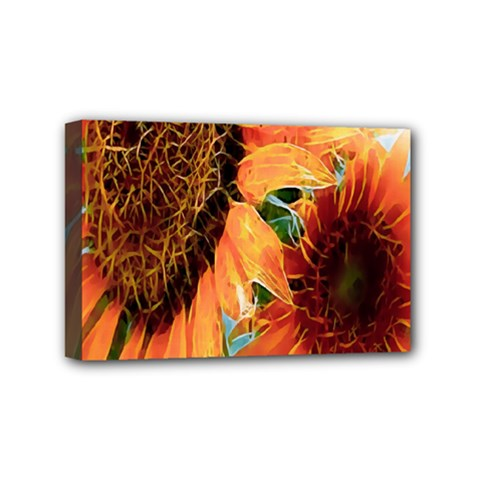 Sunflower Art  Artistic Effect Background Mini Canvas 6  X 4  by BangZart