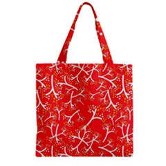 Small Flowers Pattern Floral Seamless Pattern Vector Zipper Grocery Tote Bag by BangZart