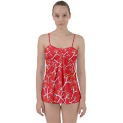 Small Flowers Pattern Floral Seamless Pattern Vector Babydoll Tankini Set