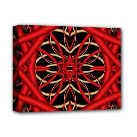 Fractal Wallpaper With Red Tangled Wires Deluxe Canvas 14  X 11  by BangZart