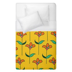 Small Flowers Pattern Floral Seamless Pattern Vector Duvet Cover (single Size)