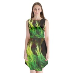 A Seaweed s Deepdream Of Faded Fractal Fall Colors Sleeveless Chiffon Dress   by jayaprime