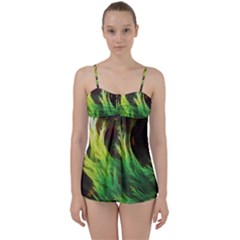 A Seaweed s Deepdream Of Faded Fractal Fall Colors Babydoll Tankini Set by jayaprime