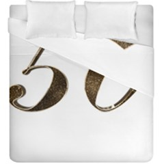 Number 50 Elegant Gold Glitter Look Typography 50th Anniversary Duvet Cover Double Side (king Size)