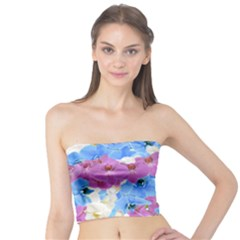 Tulips Flower Pattern Tube Top