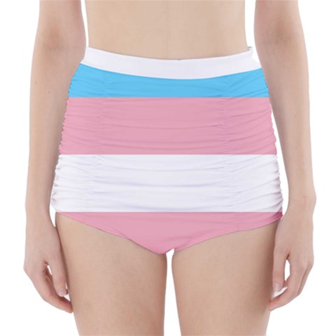 Trans Pride High Waisted Bikini Bottoms High-Waisted Bikini Bottoms