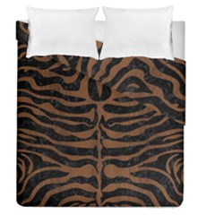 Skin2 Black Marble & Brown Wood Duvet Cover Double Side (queen Size) by trendistuff