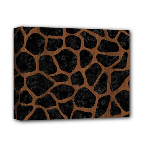 Skin1 Black Marble & Brown Wood (r) Deluxe Canvas 14  X 11  (stretched) by trendistuff