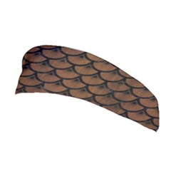 Scales3 Black Marble & Brown Wood (r) Stretchable Headband by trendistuff