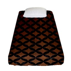Circles3 Black Marble & Brown Wood (r) Fitted Sheet (single Size) by trendistuff