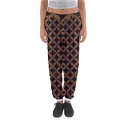 Circles3 Black Marble & Brown Wood Women s Jogger Sweatpants by trendistuff