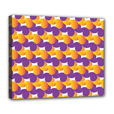 Purple And Yellow Abstract Pattern Deluxe Canvas 24  X 20
