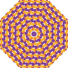 Purple And Yellow Abstract Pattern Golf Umbrellas by paulaoliveiradesign