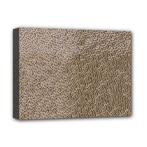 Animal Print Panthera Onca Texture Pattern Deluxe Canvas 16  X 12   by paulaoliveiradesign