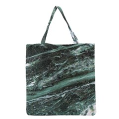 Green Marble Stone Texture Emerald  Grocery Tote Bag by paulaoliveiradesign