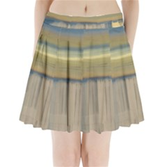 Denim-blue And Buttercream Pleated Mini Skirt by digitaldivadesigns