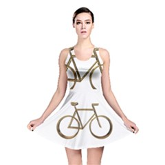 Elegant Gold Look Bicycle Cycling  Reversible Skater Dress by yoursparklingshop