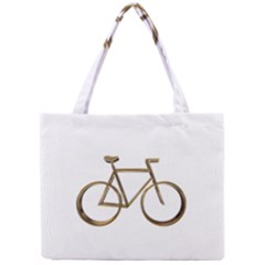 Elegant Gold Look Bicycle Cycling  Mini Tote Bag by yoursparklingshop