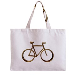 Elegant Gold Look Bicycle Cycling  Zipper Mini Tote Bag by yoursparklingshop