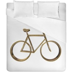 Elegant Gold Look Bicycle Cycling  Duvet Cover Double Side (california King Size) by yoursparklingshop