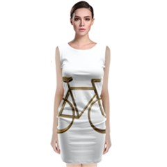 Elegant Gold Look Bicycle Cycling  Classic Sleeveless Midi Dress by yoursparklingshop