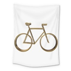 Elegant Gold Look Bicycle Cycling  Medium Tapestry