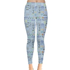 Tech Doodles Leggings  by mygraphicfairydesigns