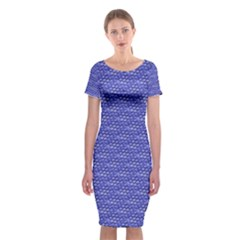 Blue Scales Classic Short Sleeve Midi Dress