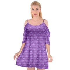 Purple Scales Cutout Spaghetti Strap Chiffon Dress by Brini