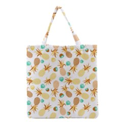 Seamless Summer Fruits Pattern Grocery Tote Bag by TastefulDesigns