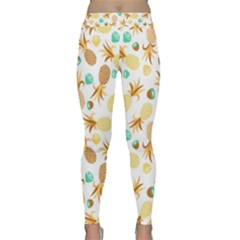 Seamless Summer Fruits Pattern Classic Yoga Leggings