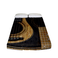 Old And Worn Acoustic Guitars Yin Yang Fitted Sheet (full/ Double Size) by JeffBartels