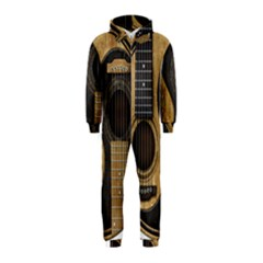 Old And Worn Acoustic Guitars Yin Yang Hooded Jumpsuit (kids)