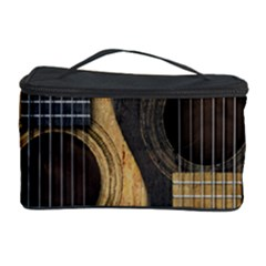 Old And Worn Acoustic Guitars Yin Yang Cosmetic Storage Case by JeffBartels