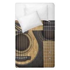 Old And Worn Acoustic Guitars Yin Yang Duvet Cover Double Side (single Size)