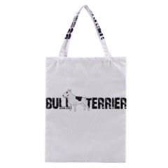 Bull Terrier  Classic Tote Bag by Valentinaart
