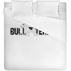 Bull Terrier  Duvet Cover Double Side (king Size) by Valentinaart
