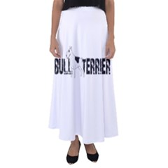 Bull Terrier  Flared Maxi Skirt