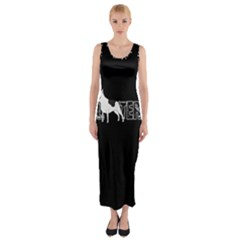 Bull Terrier  Fitted Maxi Dress