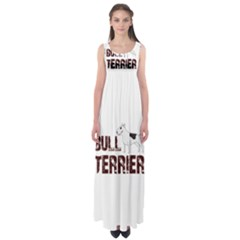 Bull Terrier  Empire Waist Maxi Dress