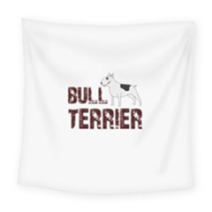 Bull Terrier  Square Tapestry (large) by Valentinaart