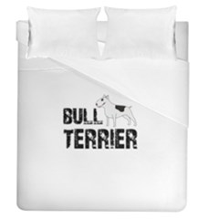 Bull Terrier  Duvet Cover (queen Size) by Valentinaart