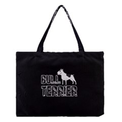 Bull Terrier  Medium Tote Bag by Valentinaart