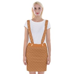 Orange Scales Braces Suspender Skirt by Brini