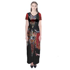 the Firebird    Short Sleeve Maxi Dress by livingbrushlifestyle