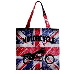 Motorcycle Old School Zipper Grocery Tote Bag