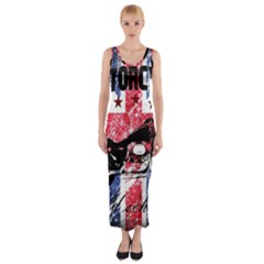 Motorcycle Old School Fitted Maxi Dress