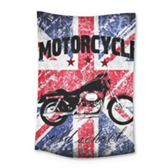 Motorcycle Old School Small Tapestry