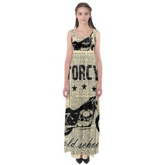 Motorcycle Old School Empire Waist Maxi Dress