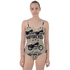Motorcycle Old School Sweetheart Tankini Set
